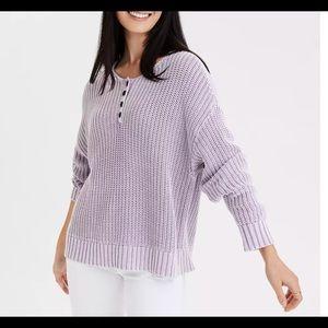 AE WHITE Henley Sweater